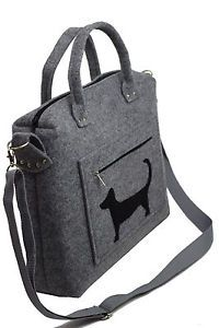 Der-Dackel-Waldi-oooo-Handmade-Handtasche-Umhaengetasche-Wollfilz-Filz-Welpe-Hund