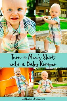 You can make an adorable baby romper out of an upcycled man's shirt! I think this is such a cute upcycle! Heather Handmade shows how to do it, and she's even got a free pattern for you to use.… Read more ...