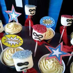 These marshmallow superheroes are so easy to make! In fact, they are so easy that you can get a toddler to help you.