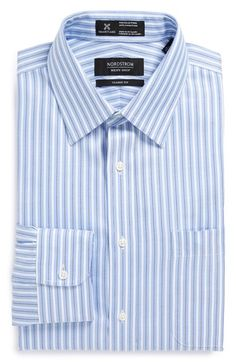 Nordstrom Smartcare™ Wrinkle Free Classic Fit Stripe Dress Shirt (Online Only) available at #Nordstrom