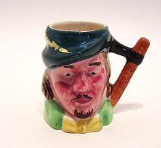 Vintage Miniature Toby Jug Robin Hood Made in Japan 2.75 inches