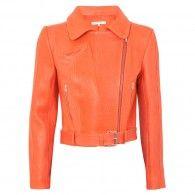 Carven - Leather biker jacket
