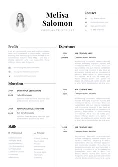 Modern resume template, Professional CV, Eye catching, clean and fresh look If you like this cv template. Check others on my CV template board :) Thanks for sharing! If you like this cv template. Check others on my CV template board :) Thanks for sharing! Creative Cv Template, Modern Resume Template, Resume Design Template, Business Resume Template, Cv Simple, Cv Original, Cv Inspiration, Logos Retro, Resume Layout
