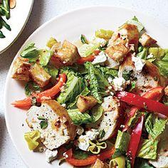 Greek Chicken Bread Salad