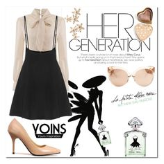 """Yoins"" by selmagorath ❤ liked on Polyvore featuring Guerlain, Linda Farrow, Boohoo, Bonheur, yoins and loveyoins"
