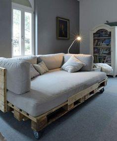 Couch aus Europaletten Wohnzimmer