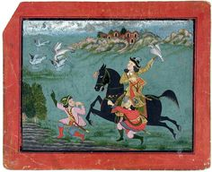 """https://flic.kr/p/8nuqUB   """"An equestrian European hawking, accompanied by two servants in European dress.""""   Accession Number: 1990:634 Display Title: """"An equestrian European hawking, accompanied by two servants in European dress."""" Suite Name:  Media & Support: Opaque watercolor and gold on paper Creation Date: ca. 1760 Creation Place/Subject: India State-Province: Rajasthan Court: Mewar School: Rajasthani Display Dimensions: 9 7/16 in. x 11 9/16 in. (24 cm x 29.4 cm) Credit L..."""