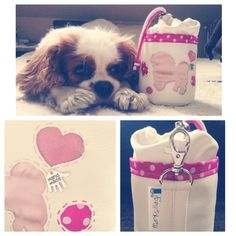 Pink treatbag for a bolognese lady by markellagi The model is Charlie, my little cavboy ☺️