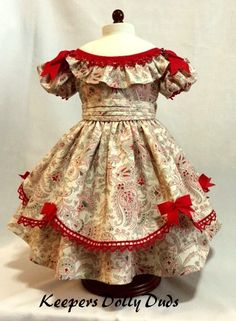 https://flic.kr/p/CMQaAX | 1850s Fancy Christmas Gown | An Original KeepersDollyDuds Design made to fit American Girl dolls Cecile or Marie-Grace.