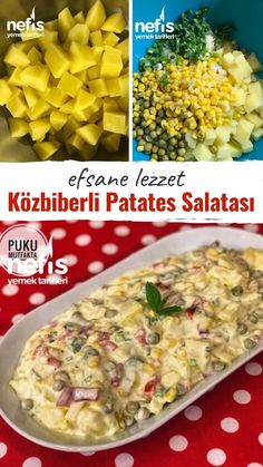 Köz Biberli Ve Soslu Enfes Patates Salatası – Nefis Yemek Tarifleri – Salata meze kanepe tarifleri – The Most Practical and Easy Recipes Easy Salad Recipes, Easy Salads, Healthy Chicken Recipes, Healthy Foods, Crab Stuffed Avocado, Cottage Cheese Salad, Superfood Salad, Salad Dishes, Dinner Salads