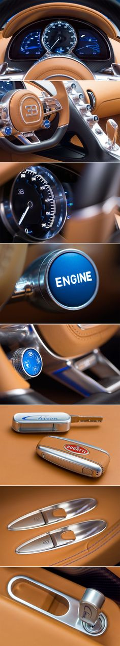 #Bugatti #Chiron, Interior Details                                                                                                                                                                                 Mais