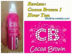 Check out Dita Time's Blog Review of Cocoa Brown 1 HOUR TAN