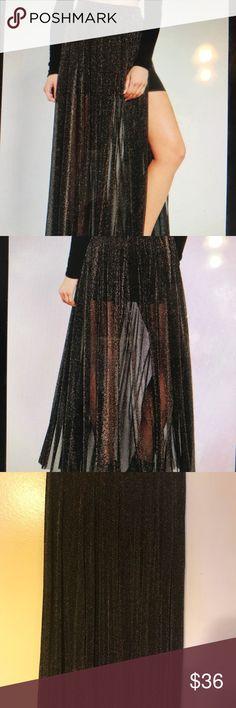 Kimchi Blue Black Sparkle Dreams Maxi Skirt Size M Beautiful excellent Condition skirt Kimchi Blue Skirts Maxi