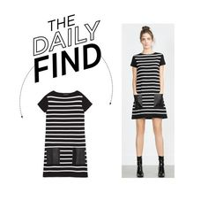 """""""Daily Find: Zara Faux Leather Dress"""" by polyvore-editorial ❤ liked on Polyvore featuring Zara and DailyFind"""