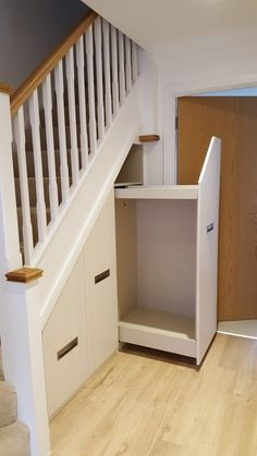 That's why our designers at Clive Anderson furniture came up with this cleaver idea of creating innovative pull out under stairs drawers, ideally used for Under Stairs Storage Drawers, Under Stairs Storage Solutions, Stairway Storage, Stair Drawers, Drawer Storage Unit, Under Stairs Cupboard, Under Basement Stairs, Closet Under Stairs, Built In Furniture