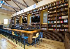"If you're looking for a new hang out check out School House Kitchen and Libations is a casual bar and eatery with an emphasis on whiskeys of the world, located in an 1882 old schoolhouse. There are 35-foot ceilings, atrium skylights, a ""teacher's lounge,"" and a couple of patios."