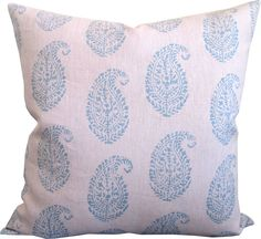 Kashmir Blue/Pink-High End Designer Decorative Pillow Cover-Peter Dunham-Block Print-Accent Pillow-Sofa Pillow-Single Sided by KLineDeco on Etsy https://www.etsy.com/listing/515157899/kashmir-bluepink-high-end-designer