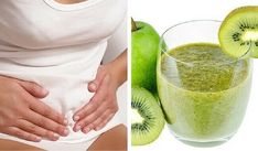 Pear and Kiwi Smoothie to Treat Bloating - Step To Health Detox Smoothies, Cooking For Dummies, Breakfast Juice, Spinach Quiche, How To Make Greens, Frappe, Light Recipes, Milkshake, Natural Remedies