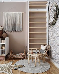 Last weeks I've been working on plain wall fringes like the Pearl from the picture. It's nice to do something without. Baby Playroom, Playroom Storage, Playroom Decor, Playroom Ideas, Scandinavian Kids Rooms, Scandinavian Design, Minimalist Kids, Cool Room Decor, Interior Design Elements