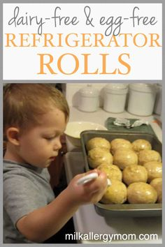 Quick Refrigerator Rolls in 3 Hours Dairy Free Bread, Dairy Free Baking, Dairy Free Eggs, Milk Allergy, Egg Allergy, Dairy Free Appetizers, Homemade Rolls, Egg Free Recipes, Vegan Christmas