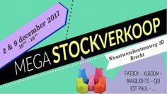 MEGA Stockverkoop zitzakken, verlichting, ... -- Brecht -- 02/12-09/12