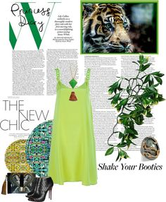 """""""Green W/ Envy"""" by holjon2110 ❤ liked on Polyvore"""
