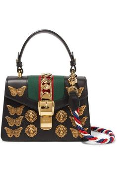 70026f125a4 The Gucci Sylvie - Gg Animal Studs Mini Black Leather Shoulder Bag is a top  10 member favorite on Tradesy.