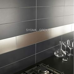 carrelage inox pour credence cuisine mi-lin - Sygma Group