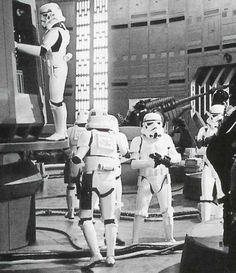 Imperial Storm Troopers in routine inspection.