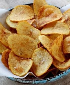 Une recette facile à réaliser de chips maison.