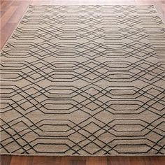 $299  Laced Links Dhurrie Rug