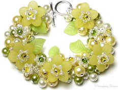 Sweet Honeysuckle Blossoms Floral Crystal by whimsydaisydesigns, $36.00