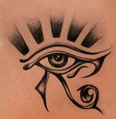 Eye of Horus. powerful symbol used to protect from evil.