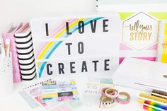 happy may happiest national creativity day. since i can remember creativity has encompassed every ounce of. Happy May, Heidi Swapp, Lightbox, Happy Thursday, Love Notes, Diy Home Decor, Creativity, Felt, Messages