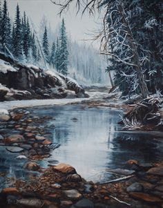 Flatbed Creek @ Tumbler Ridge B. painting is sold. Tumbler, My Arts, River, Mountains, Color Palettes, Painting, Outdoor, Projects, Color Pallets