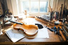 """from  Dustin Cohen's debut episode, of his """"Made In Brooklyn"""" series, profiling Sam Zygmuntowicz. Zygmuntowicz is a Brooklyn based luthier who has worked with many of the finest violinists and cellists in the world, including Isaac Stern and Yo-Yo Ma."""