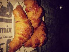Přepečené croissanty s ostružinovou náplní :-D