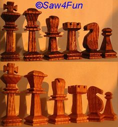 Small Chess Players Scroll Saw Pattern
