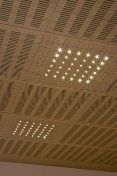 Acoustic suspended ceiling / in wood / tile / perforated IDEALED Ideatec Timber Ceiling, Tin Ceiling Tiles, Wood Ceilings, Wood Ceiling Panels, Porch Ceiling, Basement Ceiling Insulation, Basement Ceiling Options, Basement Walls, Ceiling Ideas
