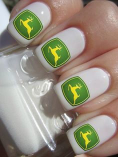 John Deere nail decals by PineGalaxy on Etsy, $4.50