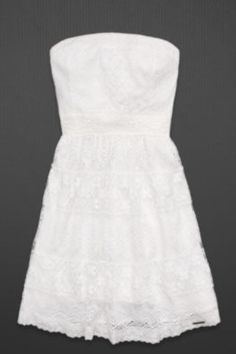 bb78a4e33b2e Beautif lace white strapless dess from ambercrombie