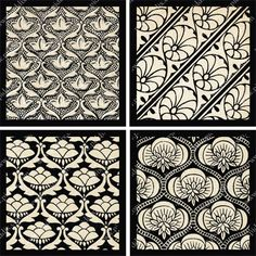 Based on vintage silk from Bombay first displayed at the Paris Exposition in 1850. Digital collage sheet 758 by piddix.