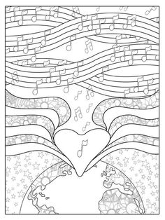 Coloring Journal - Color On Purpose Heart Coloring Pages, Pattern Coloring Pages, Printable Adult Coloring Pages, Colouring Pages, Coloring Pages For Kids, Coloring Books, Coloring Sheets, Mandala Coloring, Creative Activities