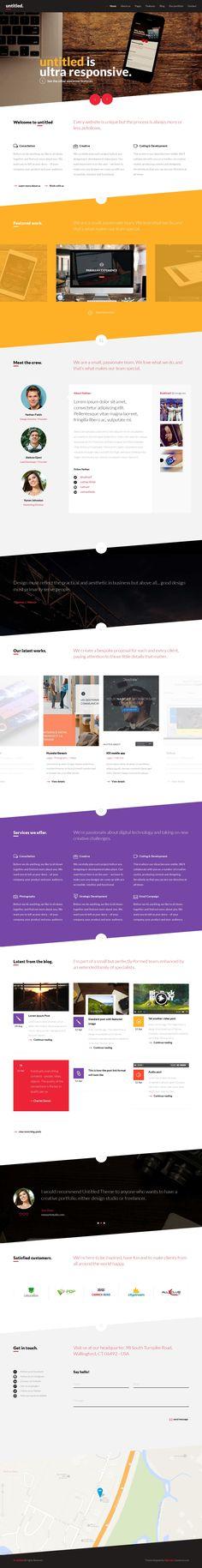 Untitled - Creative Multipurpose WordPress Theme #web #design