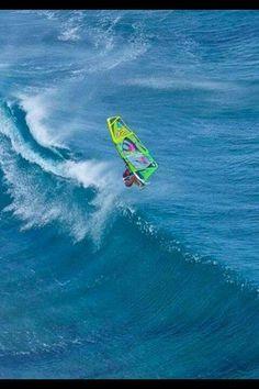 Wind kite surfing