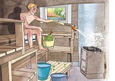 Opas mökkisaunan lattioiden korjaukseen | Meillä kotona Homemade Sauna, Sauna Design, Finnish Sauna, Saunas, Bath, Outdoor Sauna, Finland, Cottage, Wellness