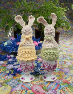 Crochet Easter bunny home decor  ~ PATTERN FOR SALE. Link correct when I checked on 04/09/2015