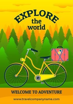 Download this Explore the world poster design illustrated Free Vector, and discover more than 17 Million Professional Graphic Resources on Freepik. #freepik #vector #travel #flyer #travelflyer