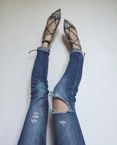 Mgemi lace up flats