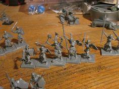 Grupo de mando, esqueletos de los no muertos. Mantic, Kings of War.